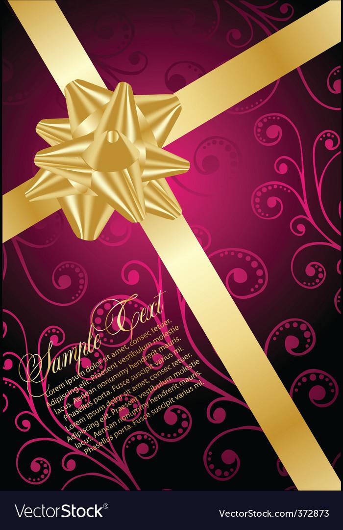 Romantic greeting card vector | Price: 1 Credit (USD $1)