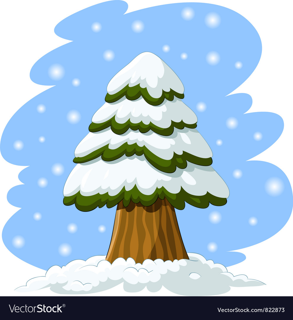 Spruce in the snow vector | Price: 3 Credit (USD $3)
