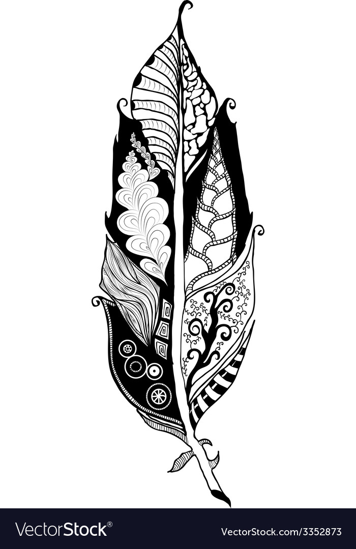 Tangle feather vector | Price: 1 Credit (USD $1)