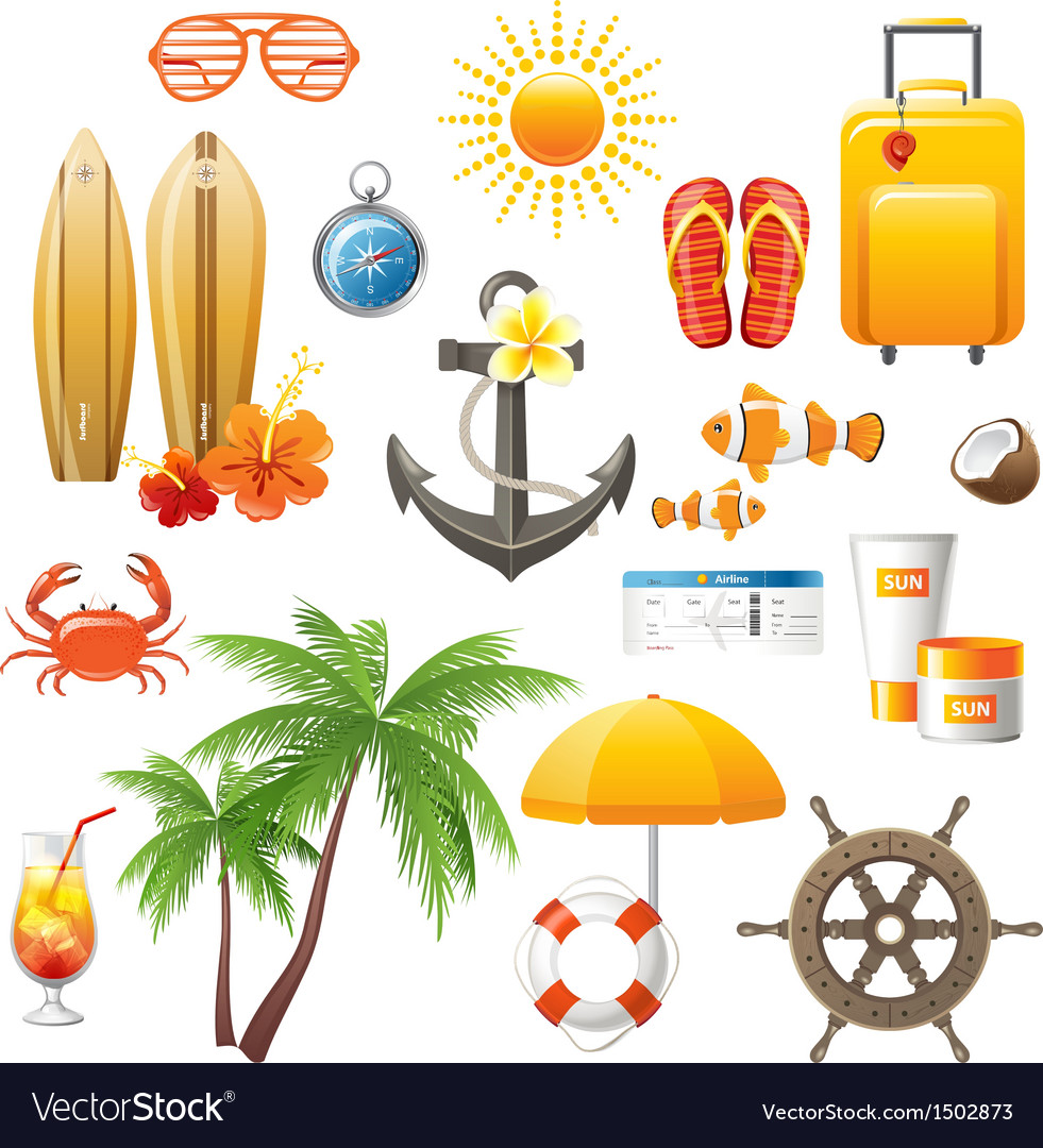 Travelling icons great set vector | Price: 3 Credit (USD $3)