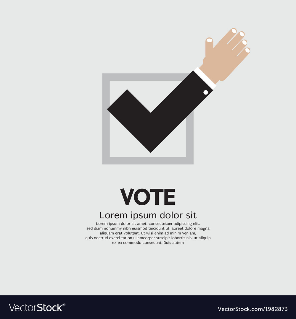Vote yes vector | Price: 1 Credit (USD $1)