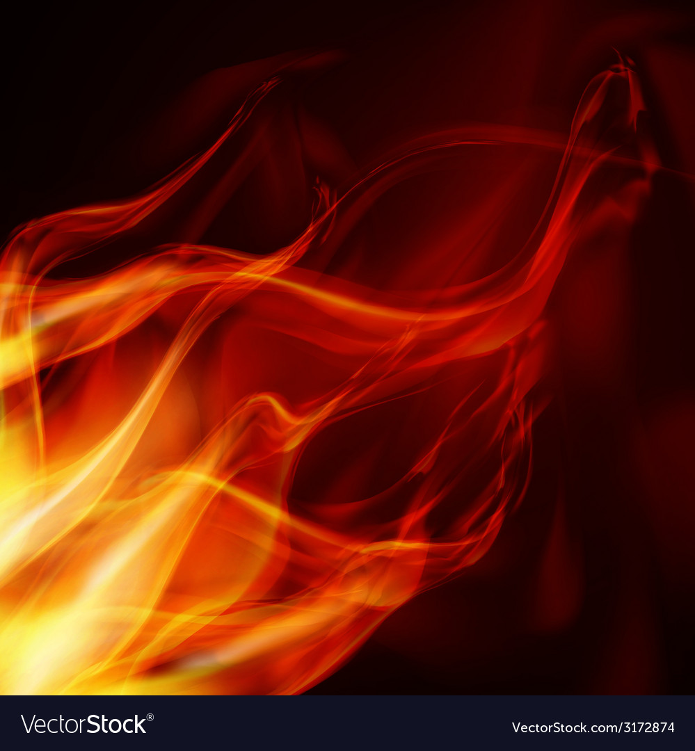 Abstract fire flames on a black background vector | Price: 1 Credit (USD $1)