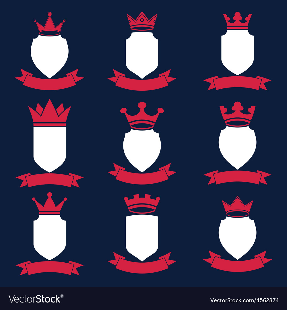 Collection of empire design elements heraldic vector | Price: 1 Credit (USD $1)