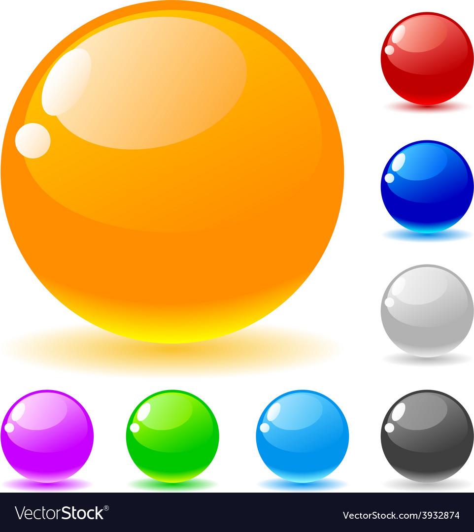 Glossy balls vector | Price: 1 Credit (USD $1)