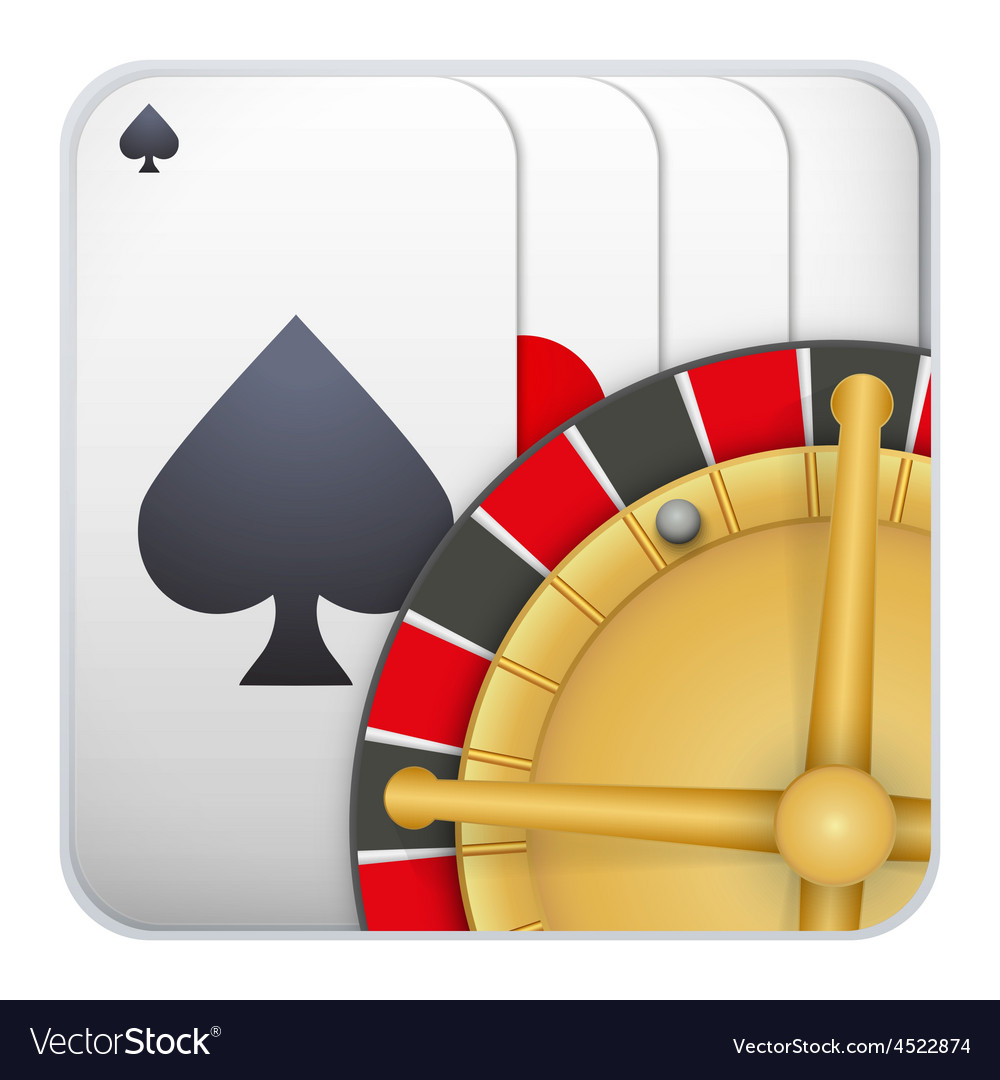 Icon deck of playing cards with roulette for vector | Price: 1 Credit (USD $1)