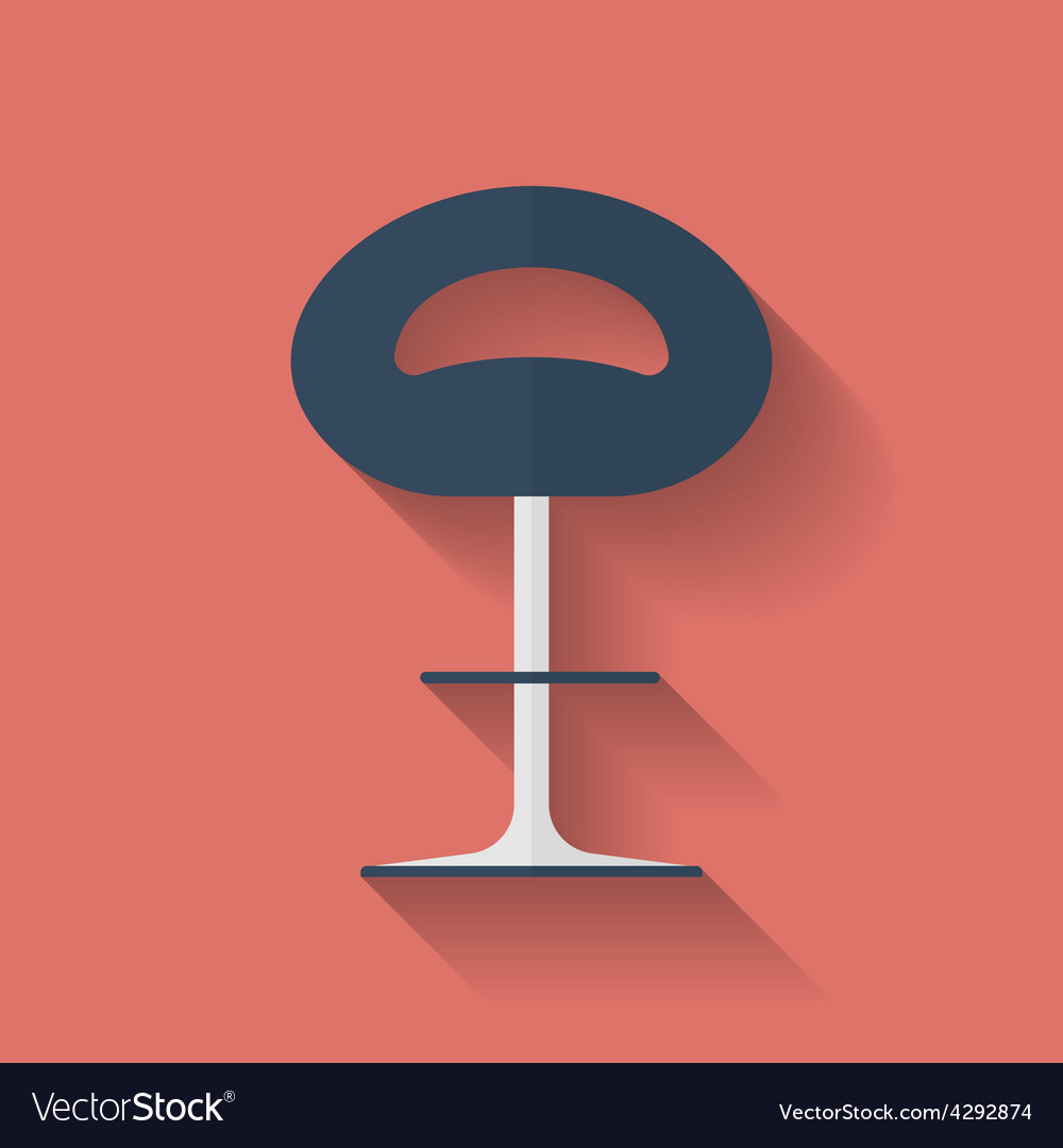 Icon of chair flat style vector | Price: 1 Credit (USD $1)