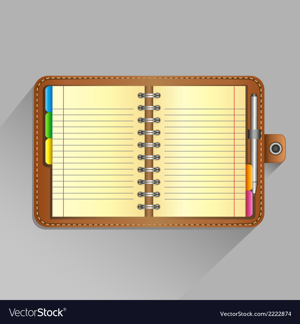 Open organizer vector | Price: 1 Credit (USD $1)