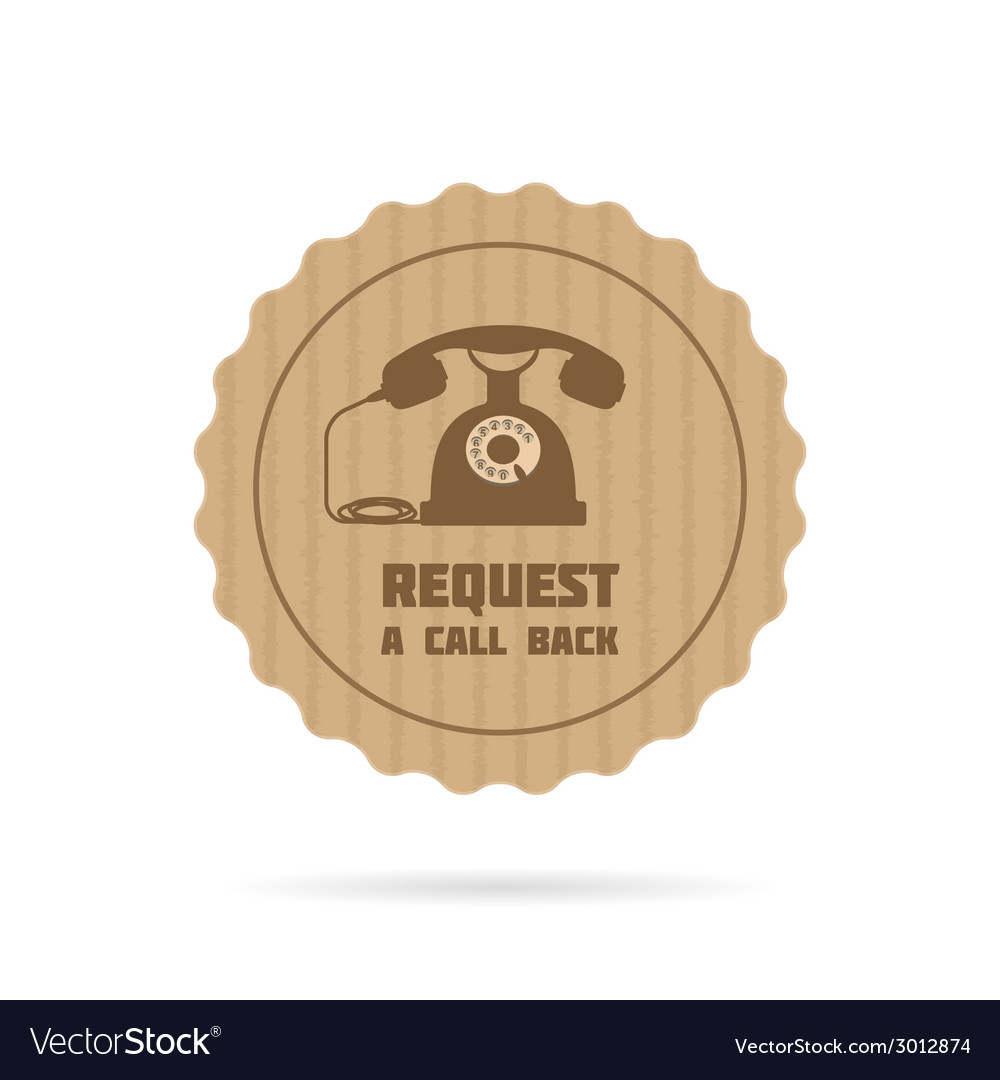 Request a call back icon vector | Price: 1 Credit (USD $1)