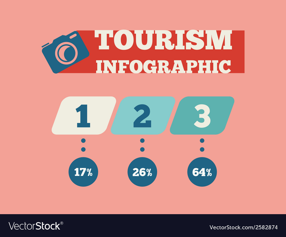 Travel infographic element vector | Price: 1 Credit (USD $1)