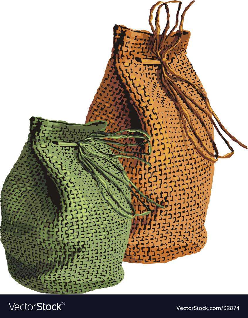 Two sacks vector | Price: 1 Credit (USD $1)