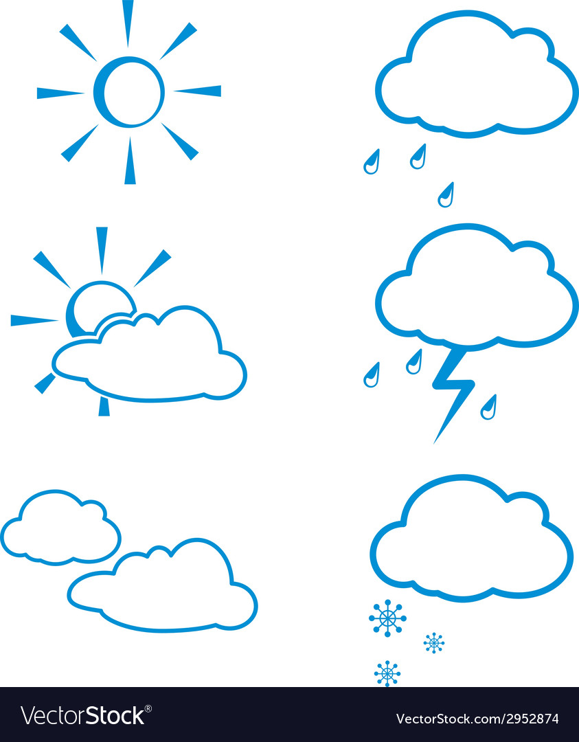 Weather icon set vector | Price: 1 Credit (USD $1)