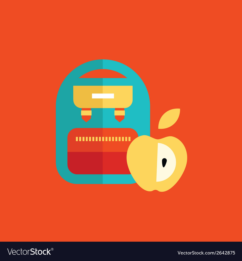Blue school backpack vector | Price: 1 Credit (USD $1)