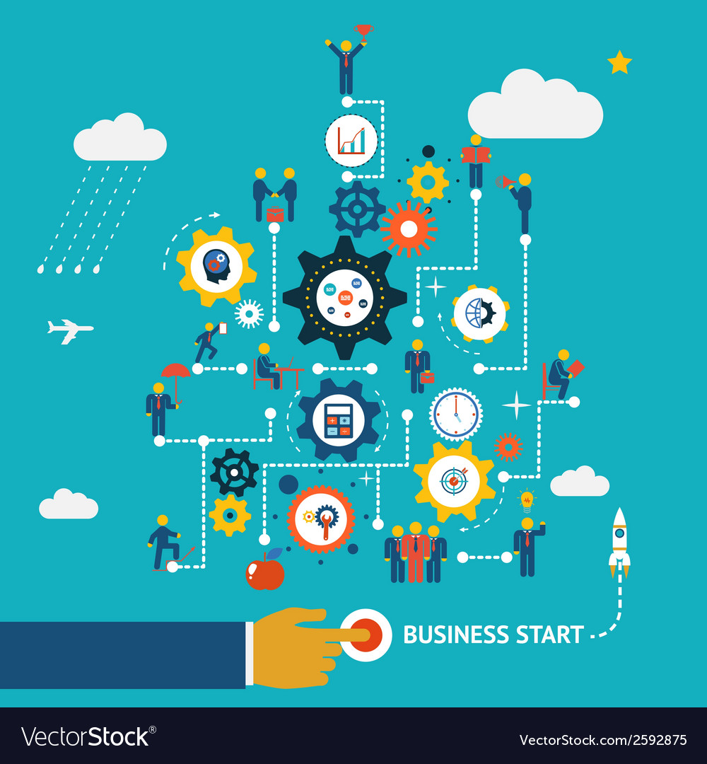 Business start infographics vector | Price: 1 Credit (USD $1)