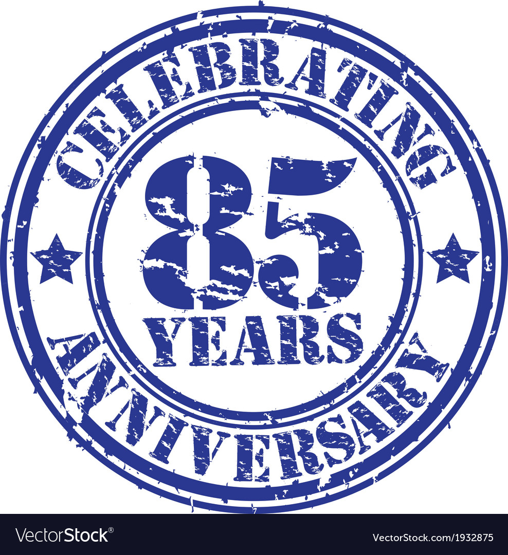 Celebrating 85 years anniversary grunge rubber sta vector | Price: 1 Credit (USD $1)