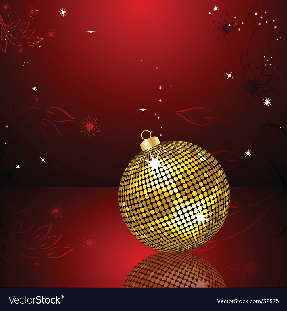 Christmas bauble reflected vector | Price: 1 Credit (USD $1)