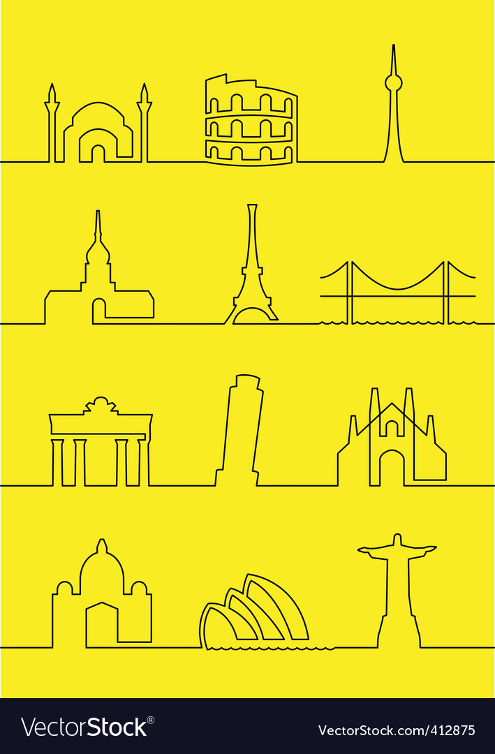 Cities of the world vector | Price: 1 Credit (USD $1)