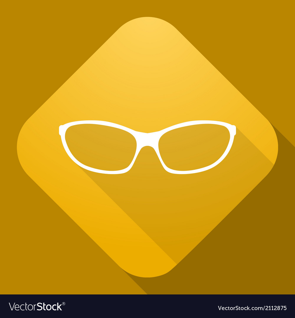 Icon of sunglasses with a long shadow vector | Price: 1 Credit (USD $1)