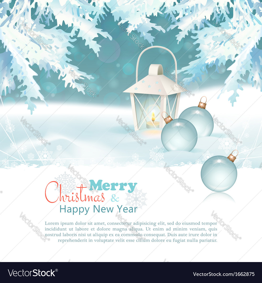Merry christmas new year celebration background vector | Price: 3 Credit (USD $3)