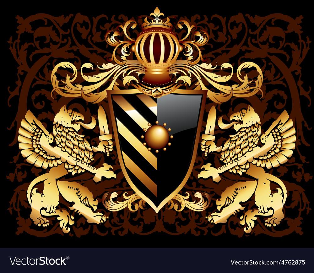 Ornamental heraldic shield vector | Price: 3 Credit (USD $3)