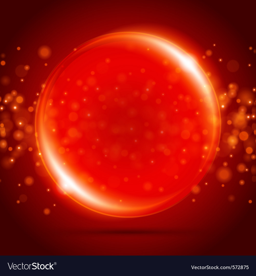 Red orb background vector | Price: 1 Credit (USD $1)