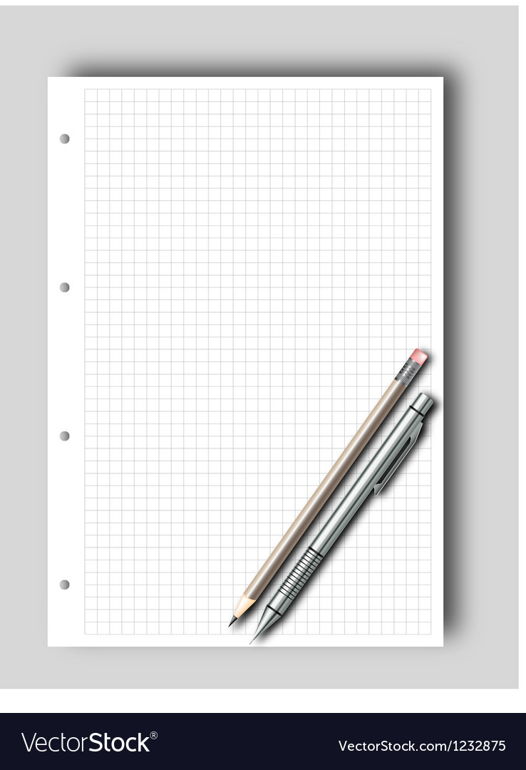 Sketch pad and pencil vector | Price: 3 Credit (USD $3)