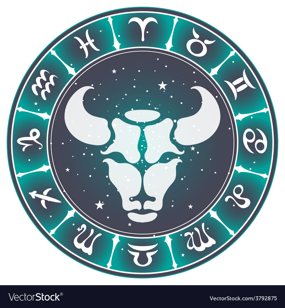 Taurus zodiac sign vector | Price: 1 Credit (USD $1)