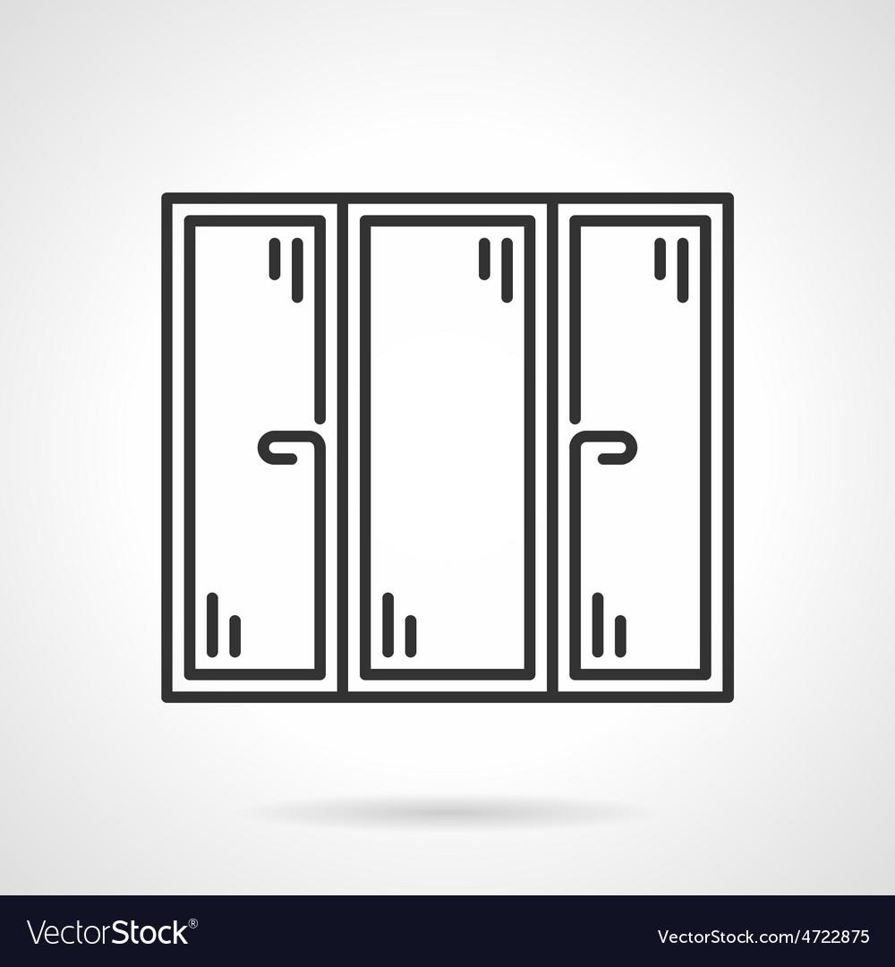 Window black line icon vector | Price: 1 Credit (USD $1)