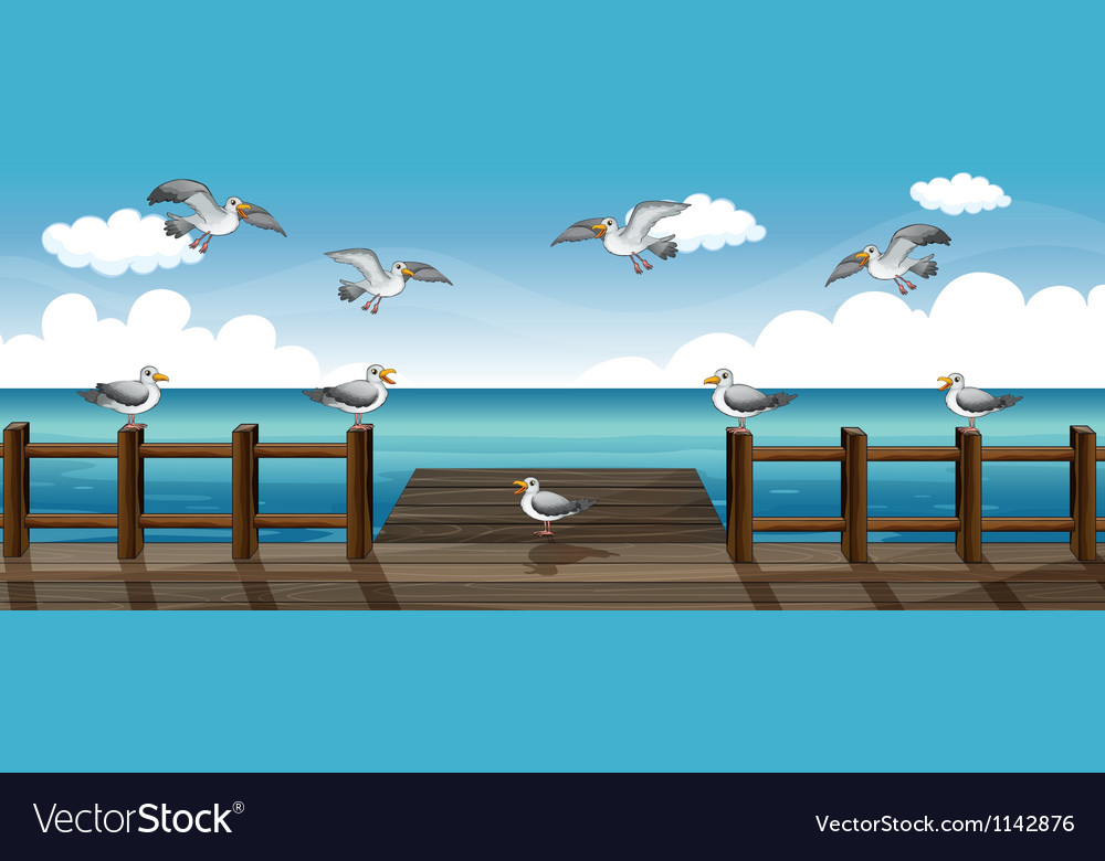 A flock of birds vector | Price: 1 Credit (USD $1)