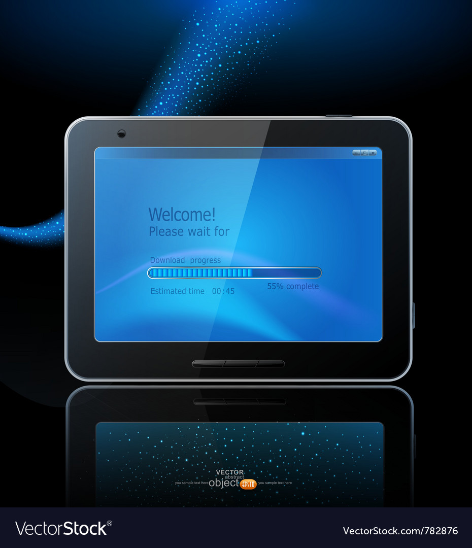 Black tablet pad vector | Price: 3 Credit (USD $3)