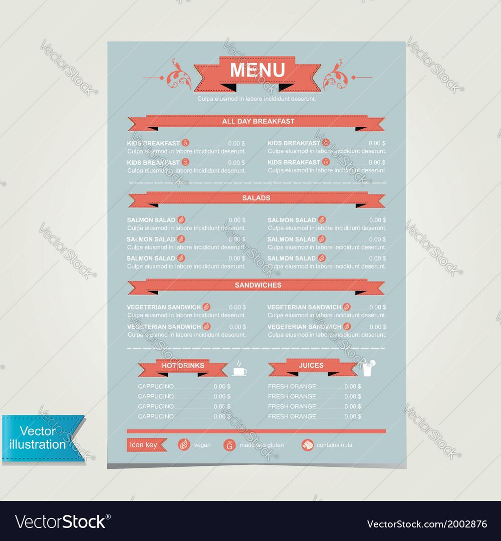 Cafe menu template design vector   Price: 1 Credit (USD $1)