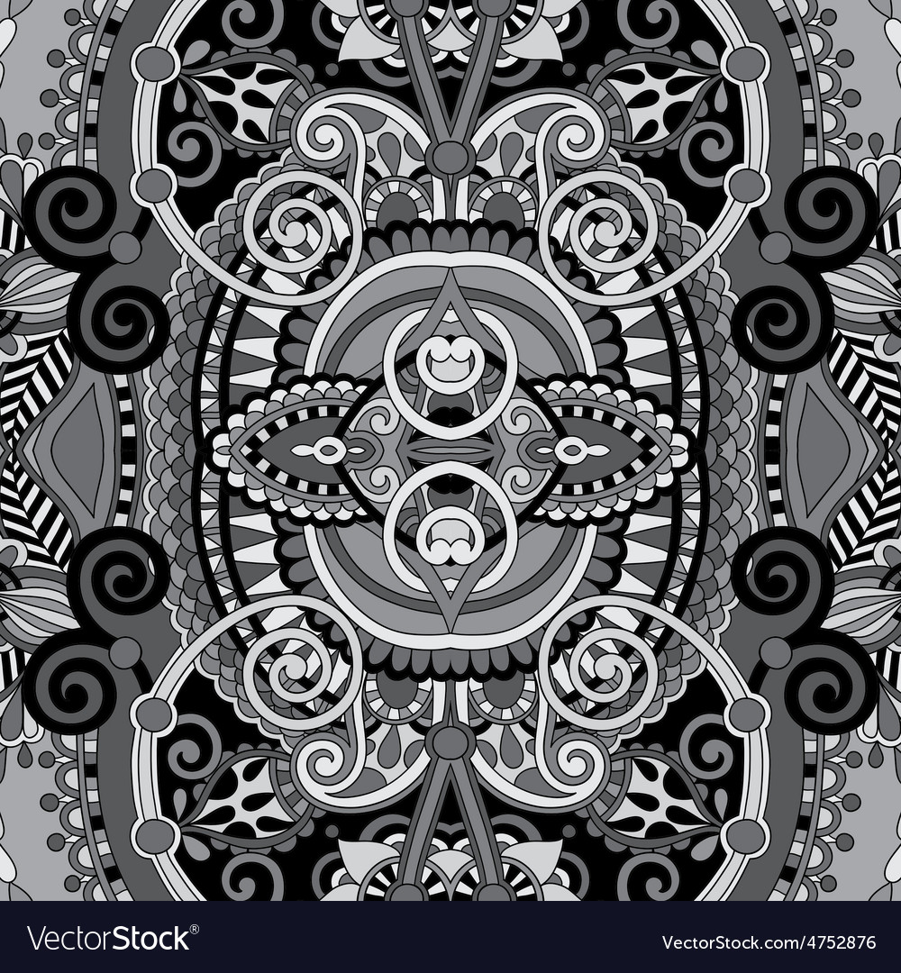 Grey authentic seamless floral geometric pattern vector | Price: 1 Credit (USD $1)