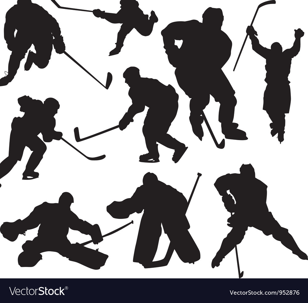 Hockeyplayers vector | Price: 1 Credit (USD $1)