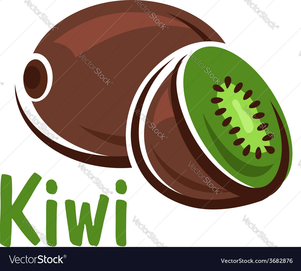Kiwi fruit with green juicy slice vector | Price: 1 Credit (USD $1)