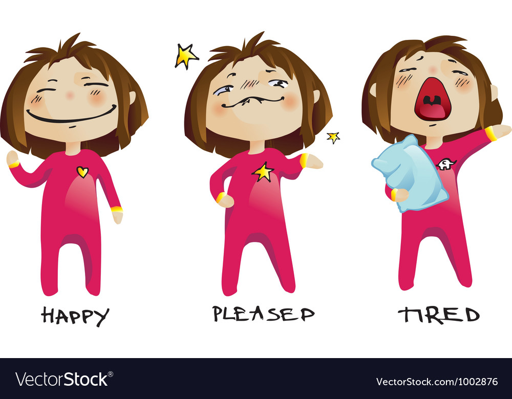 Little girl emotions vector   Price: 3 Credit (USD $3)
