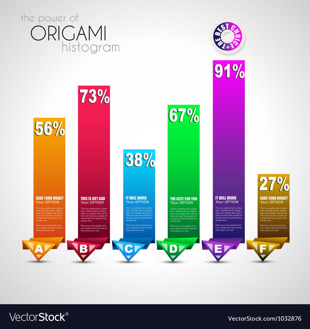 Origami histograms vector | Price: 1 Credit (USD $1)