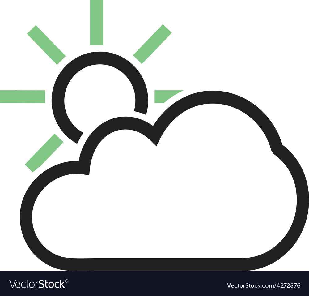 Partly cloudy vector | Price: 1 Credit (USD $1)