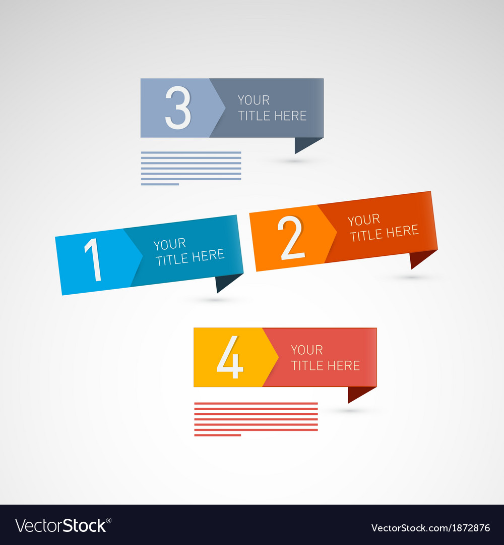 Progress steps for tutorial infographics vector | Price: 1 Credit (USD $1)