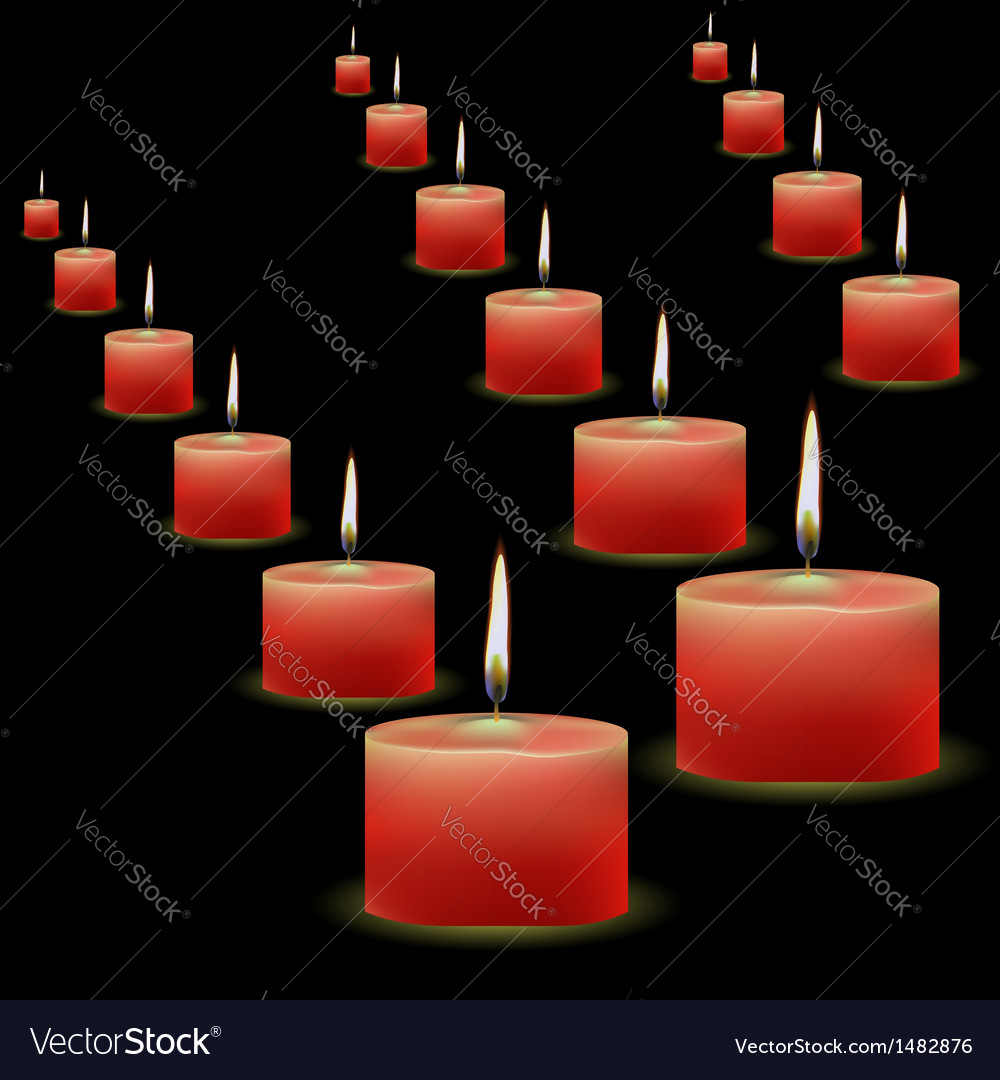 Red candles vector | Price: 1 Credit (USD $1)