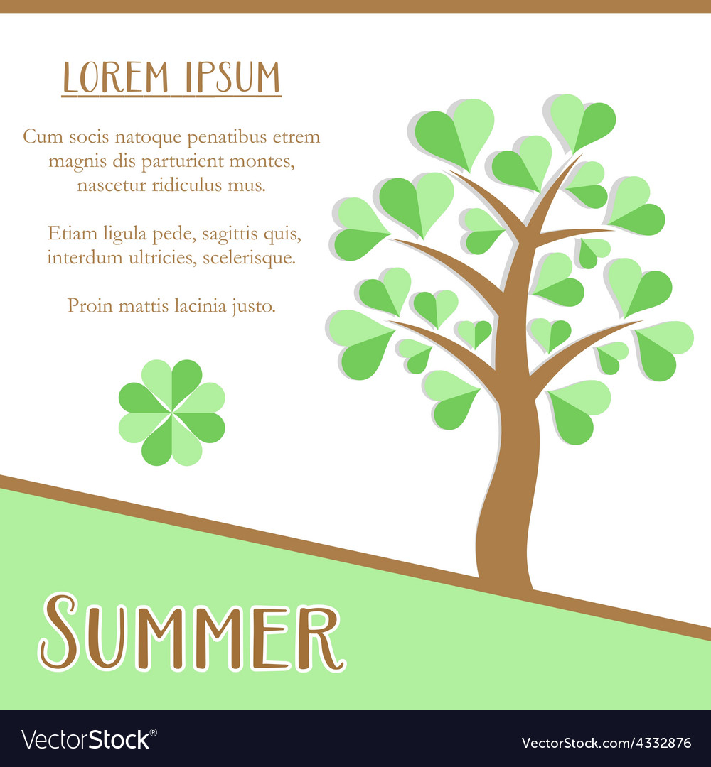 Summer season card vector | Price: 1 Credit (USD $1)