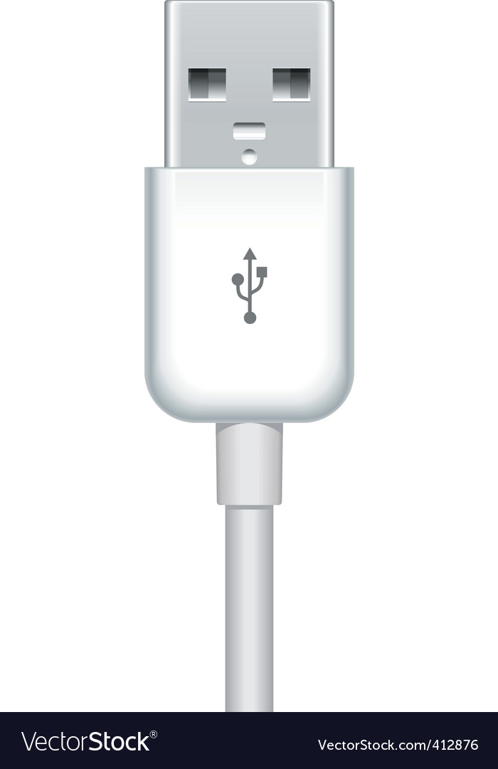 usb plug vector | Price: 1 Credit (USD $1)