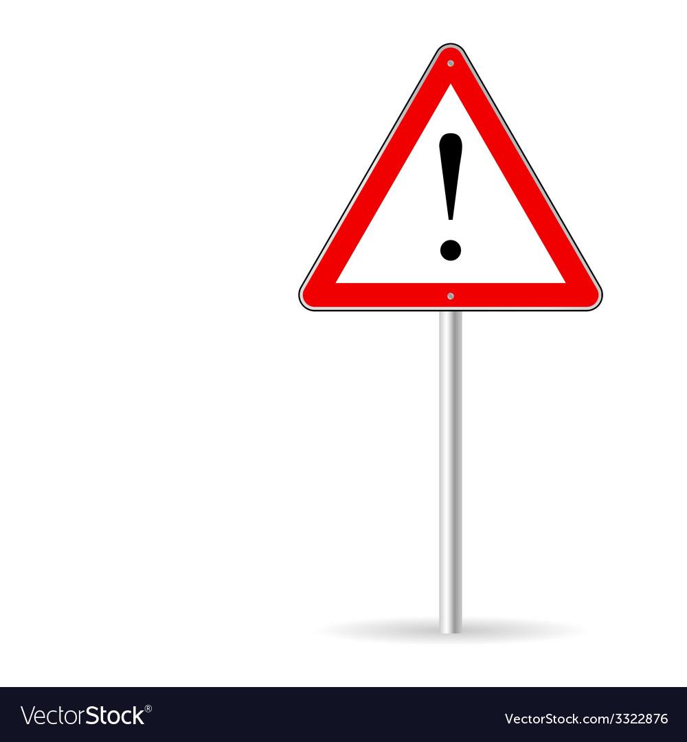 Warning traffic sign vector | Price: 1 Credit (USD $1)