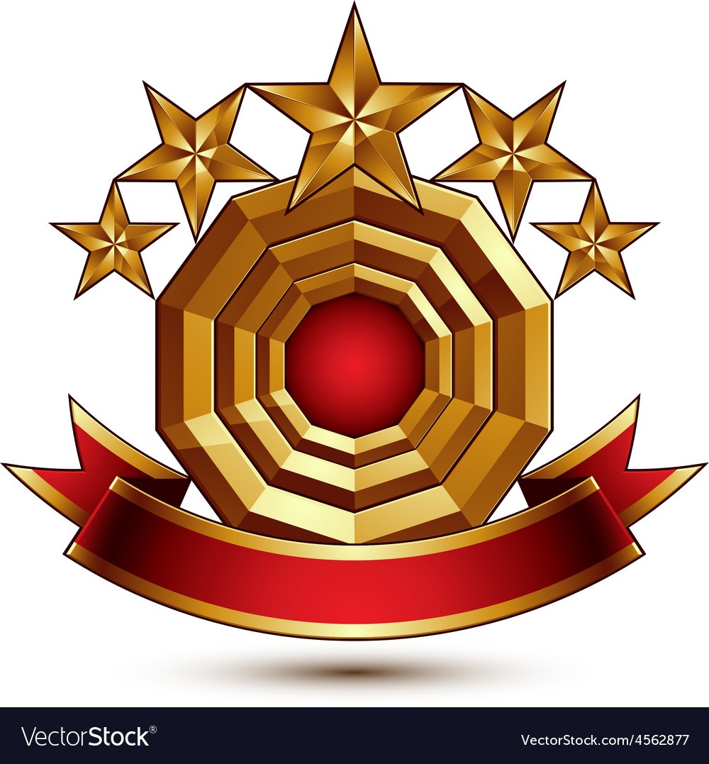 3d classic royal symbol with sophisticated five vector   Price: 1 Credit (USD $1)