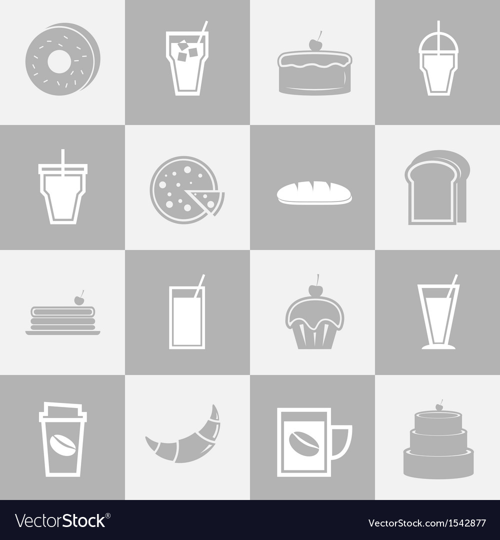 Bakery and drinks elements for coffee shop vector | Price: 1 Credit (USD $1)