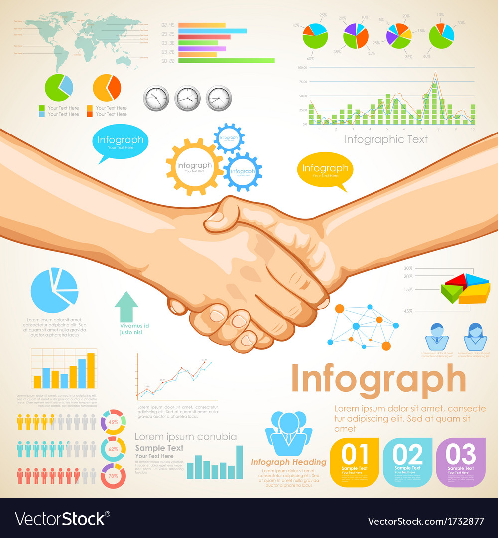 Business infographics chart vector   Price: 1 Credit (USD $1)