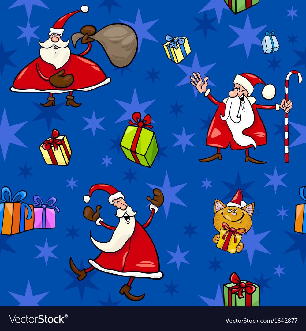 Christmas cartoon seamless pattern decor vector | Price: 1 Credit (USD $1)