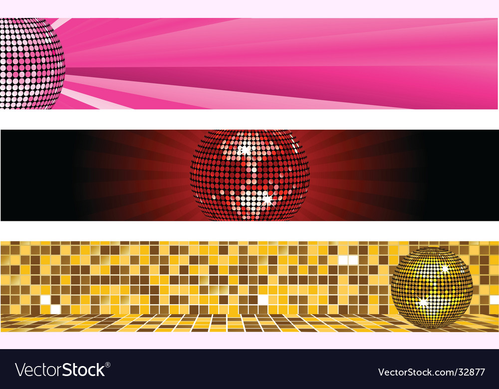 Disco ball banners vector | Price: 1 Credit (USD $1)