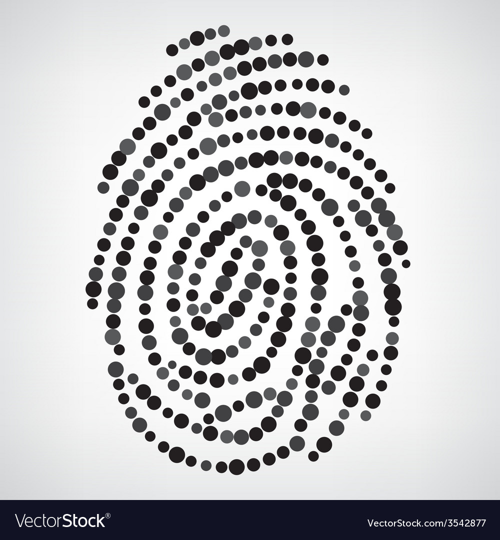 Dotted finger print vector | Price: 1 Credit (USD $1)