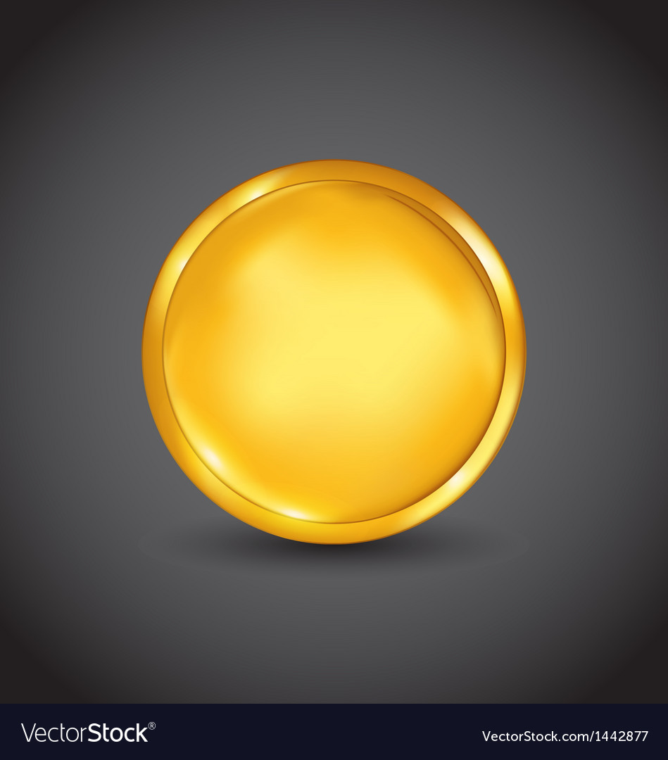 Golden coin money isolated on black background vector | Price: 1 Credit (USD $1)