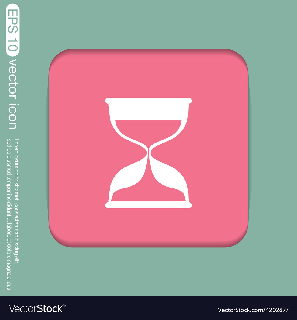 Hourglass waiting icon expectations vector | Price: 1 Credit (USD $1)