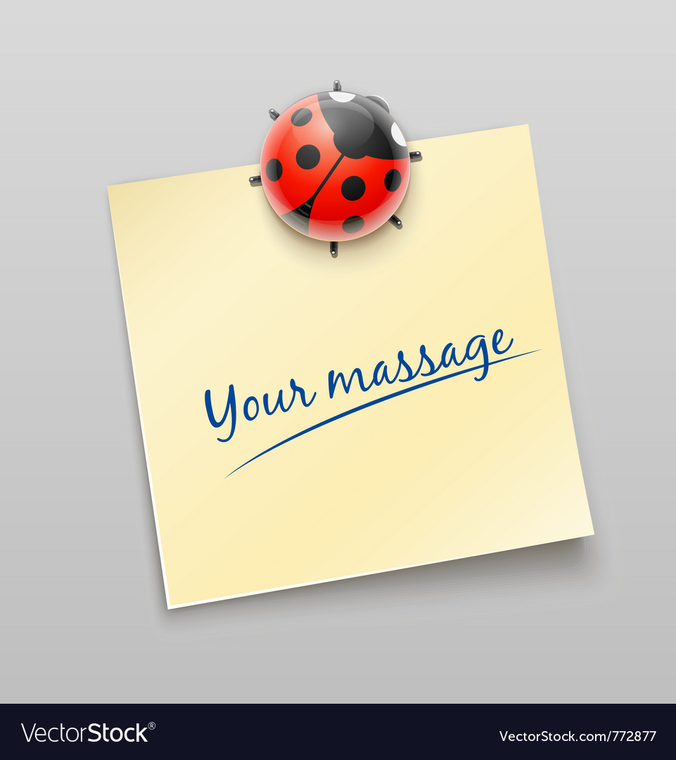 Ladybird magnet pin vector | Price: 3 Credit (USD $3)